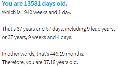 How Many Days Old Are You Discover Your Age In Days